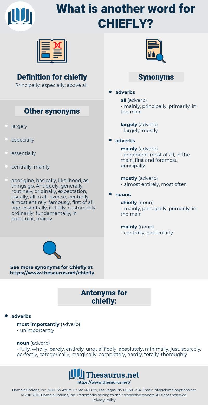 chiefly, synonym chiefly, another word for chiefly, words like chiefly, thesaurus chiefly