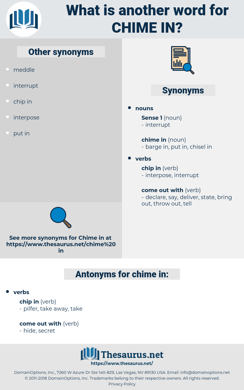 chime in, synonym chime in, another word for chime in, words like chime in, thesaurus chime in
