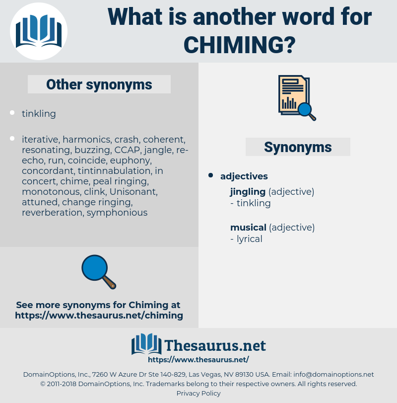 Chiming, synonym Chiming, another word for Chiming, words like Chiming, thesaurus Chiming