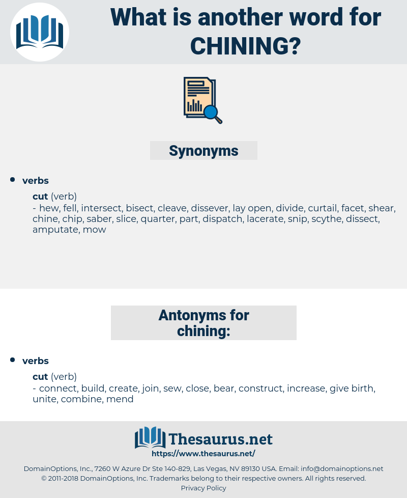 chining, synonym chining, another word for chining, words like chining, thesaurus chining