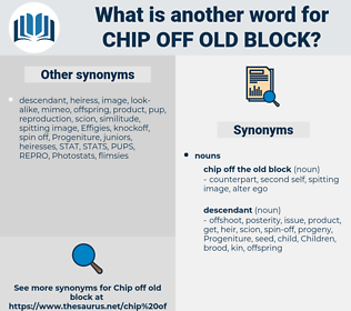 chip off old block, synonym chip off old block, another word for chip off old block, words like chip off old block, thesaurus chip off old block