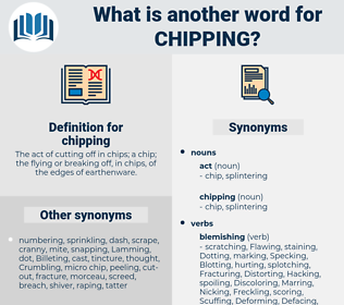 chipping, synonym chipping, another word for chipping, words like chipping, thesaurus chipping
