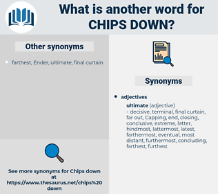 chips down, synonym chips down, another word for chips down, words like chips down, thesaurus chips down