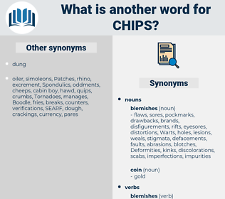 Chips, synonym Chips, another word for Chips, words like Chips, thesaurus Chips