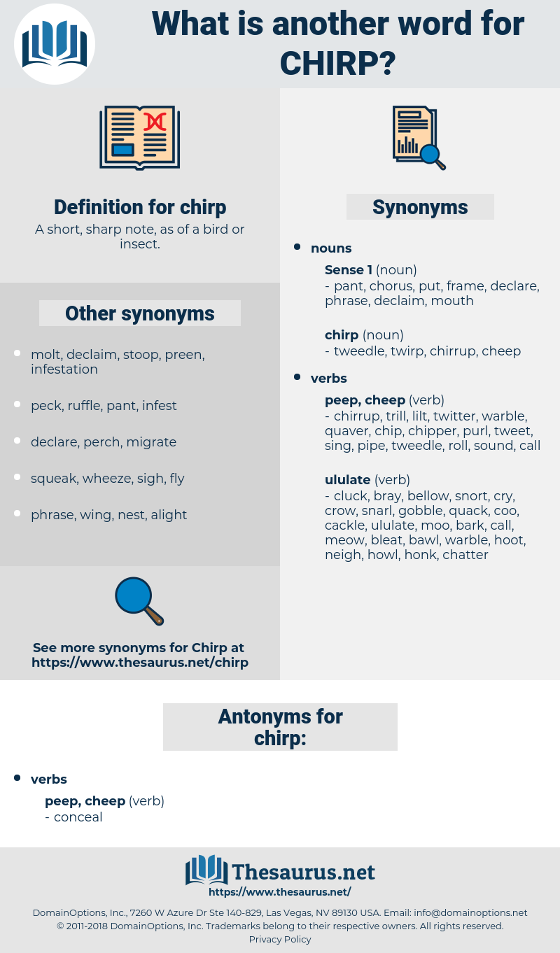 chirp, synonym chirp, another word for chirp, words like chirp, thesaurus chirp