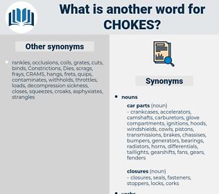 chokes, synonym chokes, another word for chokes, words like chokes, thesaurus chokes