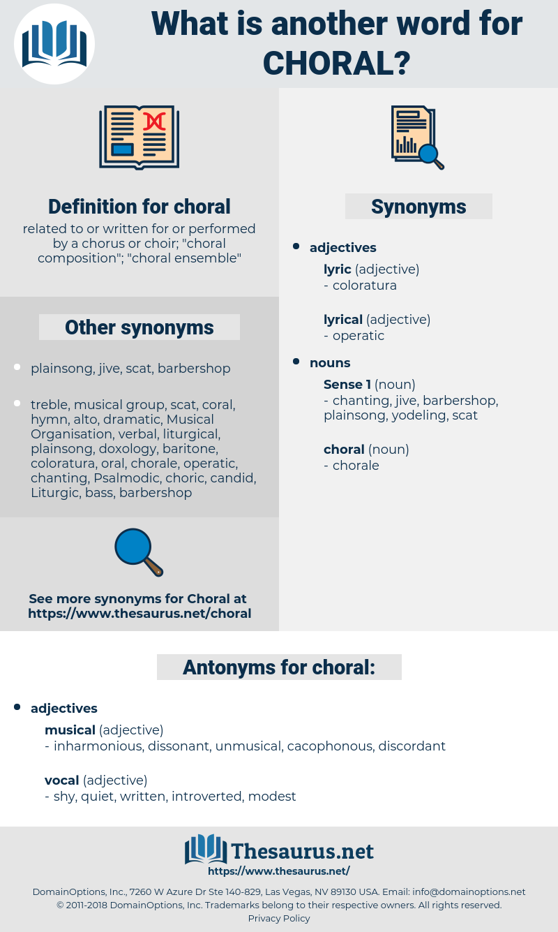 choral, synonym choral, another word for choral, words like choral, thesaurus choral