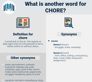 chore, synonym chore, another word for chore, words like chore, thesaurus chore