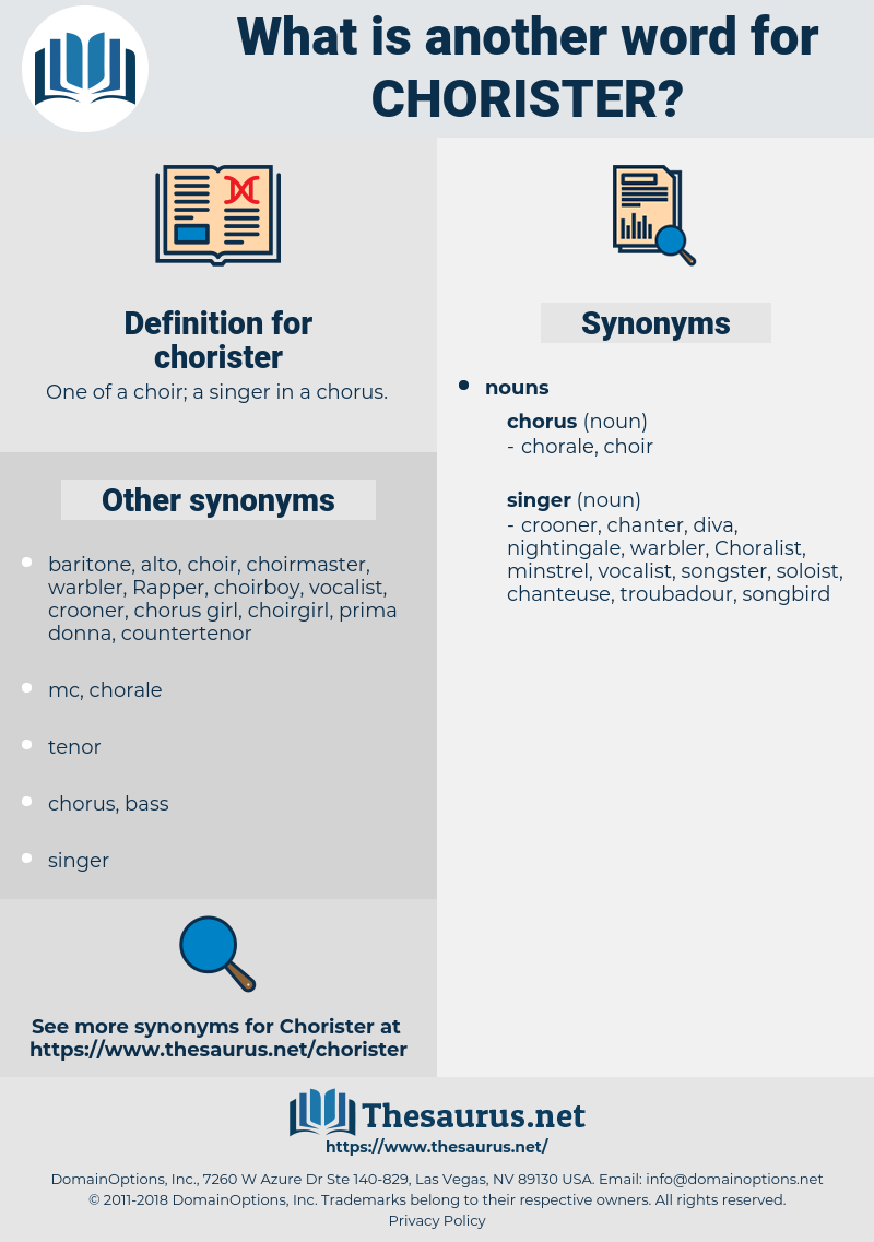 chorister, synonym chorister, another word for chorister, words like chorister, thesaurus chorister