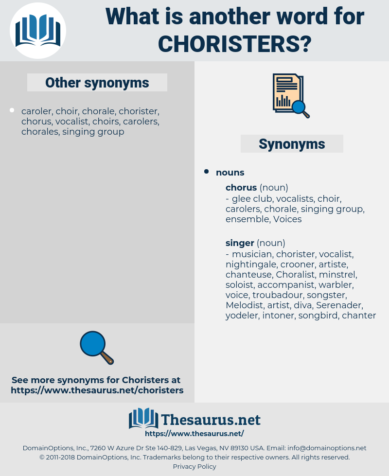 choristers, synonym choristers, another word for choristers, words like choristers, thesaurus choristers