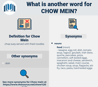 Chow Mein, synonym Chow Mein, another word for Chow Mein, words like Chow Mein, thesaurus Chow Mein