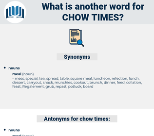 chow times, synonym chow times, another word for chow times, words like chow times, thesaurus chow times