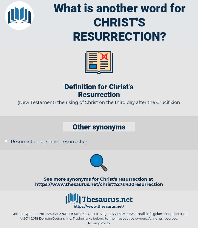 Christ's Resurrection, synonym Christ's Resurrection, another word for Christ's Resurrection, words like Christ's Resurrection, thesaurus Christ's Resurrection