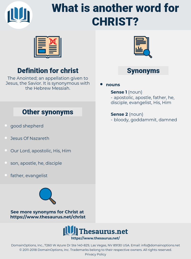 christ, synonym christ, another word for christ, words like christ, thesaurus christ