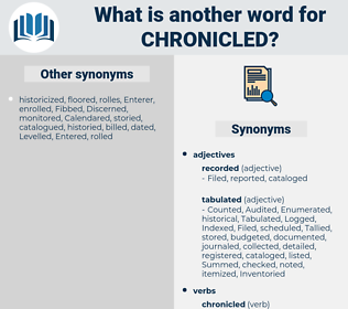 Chronicled, synonym Chronicled, another word for Chronicled, words like Chronicled, thesaurus Chronicled