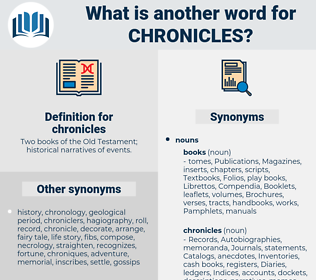 chronicles, synonym chronicles, another word for chronicles, words like chronicles, thesaurus chronicles