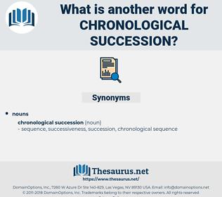 chronological succession, synonym chronological succession, another word for chronological succession, words like chronological succession, thesaurus chronological succession