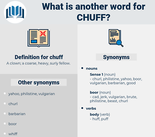 chuff, synonym chuff, another word for chuff, words like chuff, thesaurus chuff
