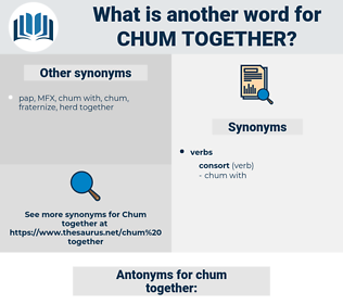 chum together, synonym chum together, another word for chum together, words like chum together, thesaurus chum together