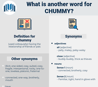 chummy, synonym chummy, another word for chummy, words like chummy, thesaurus chummy