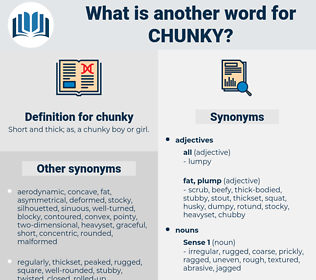 chunky, synonym chunky, another word for chunky, words like chunky, thesaurus chunky