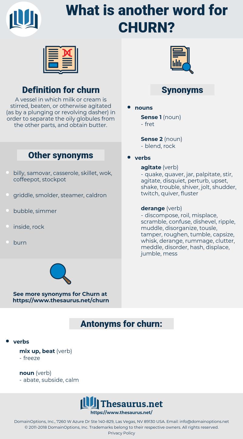 churn, synonym churn, another word for churn, words like churn, thesaurus churn