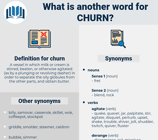 churn, synonym churn, another word for churn, words like churn, thesaurus churn