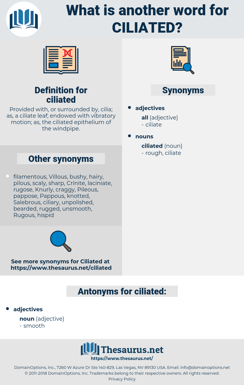 ciliated, synonym ciliated, another word for ciliated, words like ciliated, thesaurus ciliated