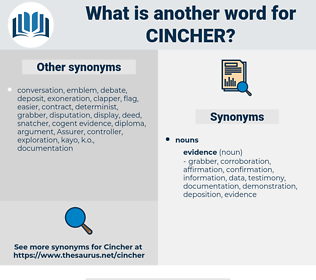 cincher, synonym cincher, another word for cincher, words like cincher, thesaurus cincher