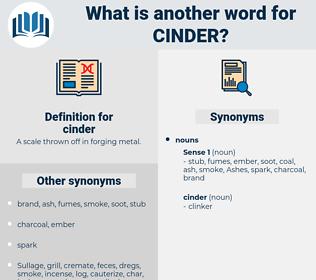 cinder, synonym cinder, another word for cinder, words like cinder, thesaurus cinder