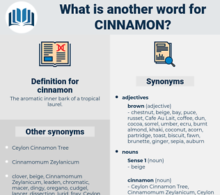 cinnamon, synonym cinnamon, another word for cinnamon, words like cinnamon, thesaurus cinnamon