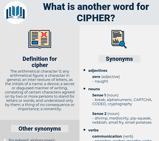 cipher, synonym cipher, another word for cipher, words like cipher, thesaurus cipher
