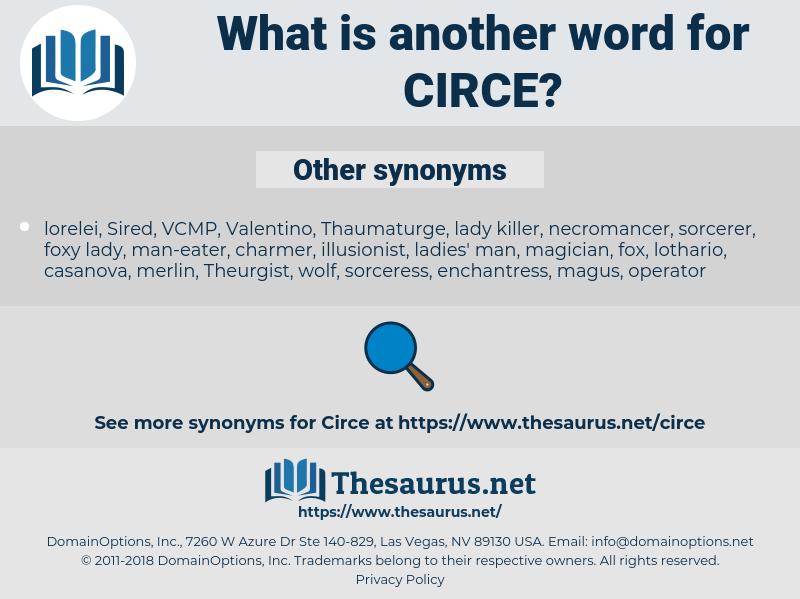 circe, synonym circe, another word for circe, words like circe, thesaurus circe