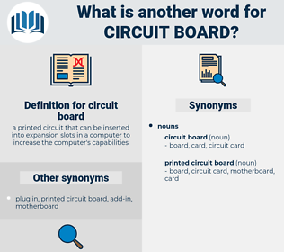 circuit board, synonym circuit board, another word for circuit board, words like circuit board, thesaurus circuit board