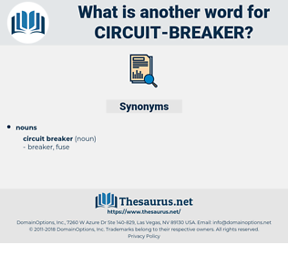 circuit breaker, synonym circuit breaker, another word for circuit breaker, words like circuit breaker, thesaurus circuit breaker