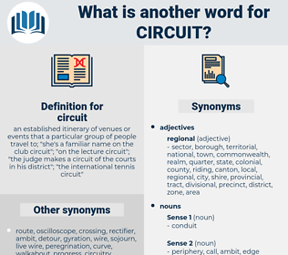 circuit, synonym circuit, another word for circuit, words like circuit, thesaurus circuit