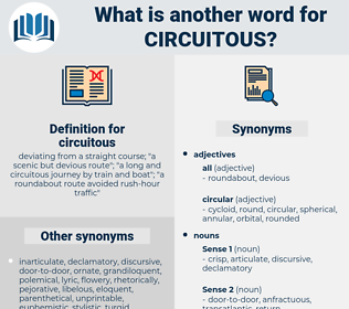 circuitous, synonym circuitous, another word for circuitous, words like circuitous, thesaurus circuitous