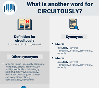 circuitously, synonym circuitously, another word for circuitously, words like circuitously, thesaurus circuitously