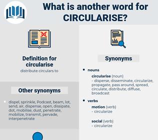 circularise, synonym circularise, another word for circularise, words like circularise, thesaurus circularise