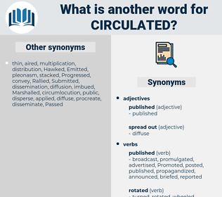 circulated, synonym circulated, another word for circulated, words like circulated, thesaurus circulated