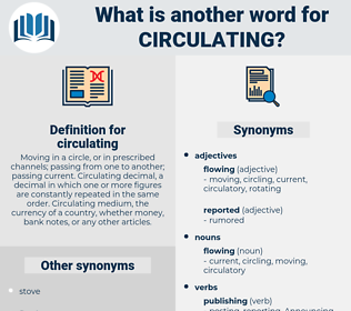 circulating, synonym circulating, another word for circulating, words like circulating, thesaurus circulating