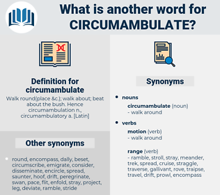 circumambulate, synonym circumambulate, another word for circumambulate, words like circumambulate, thesaurus circumambulate