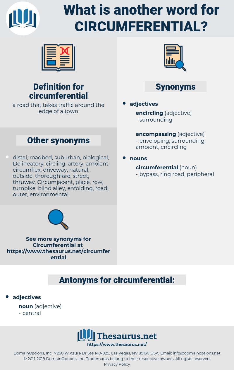circumferential, synonym circumferential, another word for circumferential, words like circumferential, thesaurus circumferential