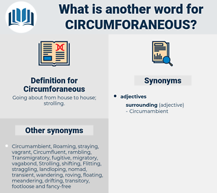 Circumforaneous, synonym Circumforaneous, another word for Circumforaneous, words like Circumforaneous, thesaurus Circumforaneous