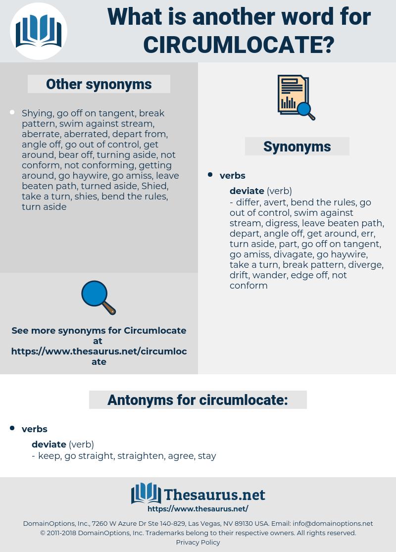 circumlocate, synonym circumlocate, another word for circumlocate, words like circumlocate, thesaurus circumlocate
