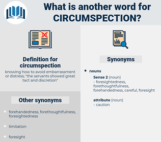 circumspection, synonym circumspection, another word for circumspection, words like circumspection, thesaurus circumspection
