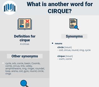cirque, synonym cirque, another word for cirque, words like cirque, thesaurus cirque