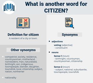 citizen, synonym citizen, another word for citizen, words like citizen, thesaurus citizen