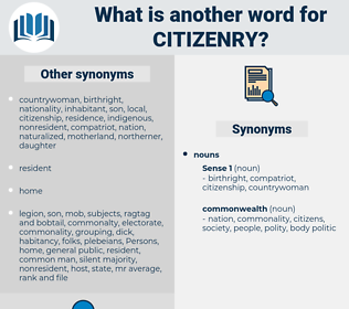 citizenry, synonym citizenry, another word for citizenry, words like citizenry, thesaurus citizenry