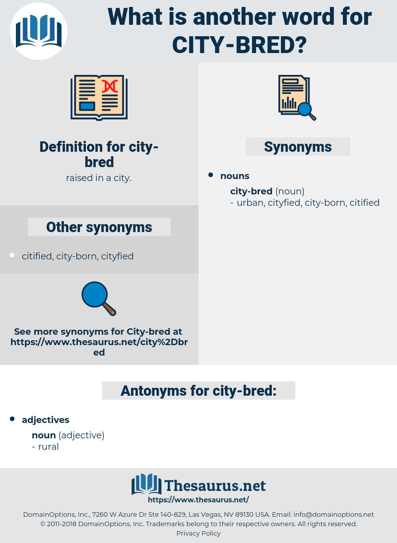 city-bred, synonym city-bred, another word for city-bred, words like city-bred, thesaurus city-bred